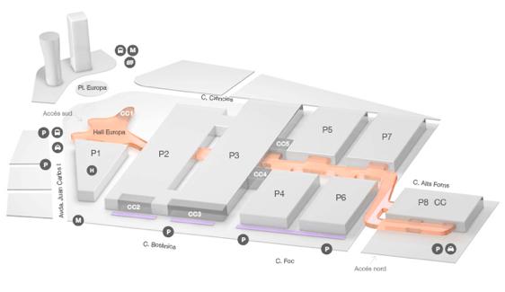 Mapa Centro de convenciones
